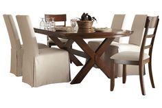 Series Name: Burkesville | Item Name: Rectangular Dining Room Table | Model #: D565-25