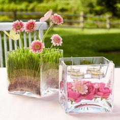 Clearly Creative™ Teelichthalter Glaswürfel von PartyLite, Details: Mundgeblasenes Glas mit Metalleinsatz für Teelichter. H: 15cm, B: 15cm. Kerzenformen: Teelichter. CLEARLY CREATIVE™ Nichts leichter als das! Gestalten Sie einen frühlingshaften Blickfang, indem Sie Accessoires kreativ befüllen.
