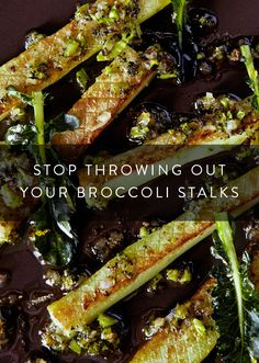 Don't Throw Out Those Broccoli Stalks Wait! Don't Throw Out Those Broccoli Stalks. 8 recipes to make the most out of this healthy vegetable. Broccoli is so versatile, here's how you use all of it. Broccoli Stalk, Broccoli Dishes, Healthy Vegetable Recipes, Broccoli Recipes, Healthy Vegetables, Vegetable Salad, Healthy Snacks, Vegetarian Recipes, Hors D'oeuvres