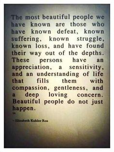 Compassion is key. It's so easy for someone to throw stones, but it takes knowledge, strength and a heart to step back and have compassion.