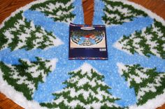 2014-03-08 I finished my latch hook rug Christmas Tree Skirt this morning. It took me two and a half months!