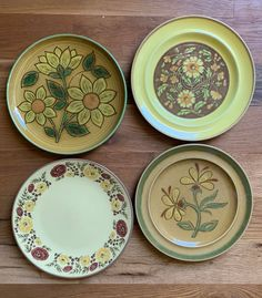 Excited to share this item from my shop: Mismatched Floral Dinner Plates Set Of 4 or 6 Sold Individually Vintage Plates, Vintage Dishes, Vintage Ceramic, Dinner Plate Sets, Dinner Plates, 70s Decor, Soup Mugs, Plate Design, Home Decor Kitchen