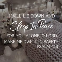 When worry and deep concerns plague us, we toss and turn all night long — unable to sleep. But, when King David was surrounded by troubles and threats, he sang. Psalm 4:8, In peace I will both lie...