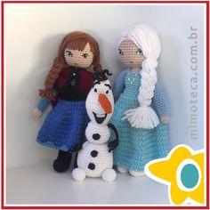 """Agora a família Frozen está completa! #amigurumi #crochet #presente #crochetdoll #boneca #bonecadecrochet #decoração #designercrochet #arteemcrochet…"""