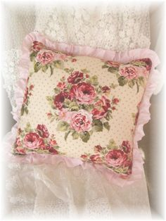 Cottage Rose Pillow