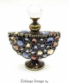 Jeweled & Enameled Multi Crystals Perfume Bottle