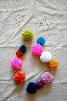 Pompom garland by Marilu Boutique.