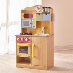 Teamson Kids Little Chef Wooden Toy Play Kitchen With Accessories Burlywood Cook Up The Creation Of Your