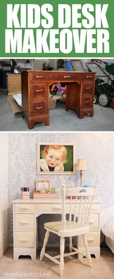 Getting kids interested in homework can sometimes be a challenge. Try getting them excited with a desk and work area that they helped put together using this DIY idea!