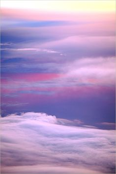 Being in the clouds is like being in a beautiful art gallery.
