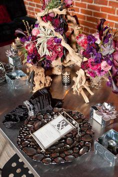 black themed wedding |  siegel thurston photography
