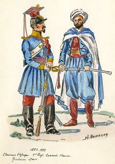 French; 1st Chasseurs d'Afrique, Carabiner Chasseur & Gendarmerie Indigenie, 1832