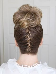 Back Braided Top Knot Hairstyles