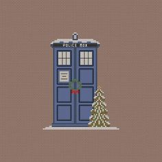 Cross Stitch - Christmas Tardis!  I hate to pay for patterns, but I may have to break down and buy this one!