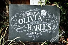 "Customizable Chalkboard  ""I am obsessed with anything wedding signage, but add in my love for chalkboard, and you have a winning combination. This one from Custom Chalk is absolutely fabulous!"""