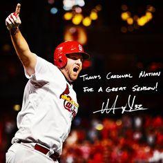 """Thanks Cardinal Nation for a great season!"" - Matt Adams"