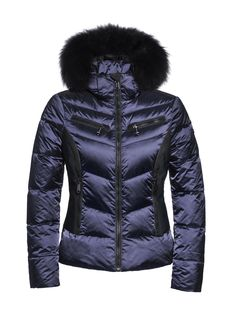 #Kitesun GB03-10-173 gb0310173 #505 #Marine #blueskijack #skiwear #luxurysportswear #Goldbergh #GB #ski #snowwear #skifashion #foxfur