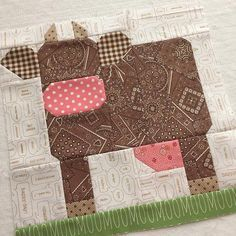 I just finished another Milk Cow block!she just needs embroidery:) Still having lots of fun on our last late night sew here at… Farm Quilt Patterns, Paper Piecing Patterns, Cow Pattern, Pattern Blocks, Barn Quilt Designs, Quilting Designs, Quilting Projects, Sewing Projects, Farm Animal Quilt