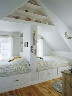 Shared Bedroom Design, I would love this in our attic ..... some day