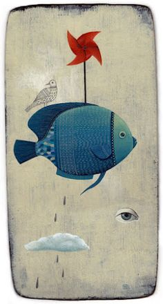 Arte e girandole: la splendida #illustrazione di Carole #Hénaff