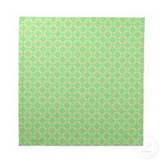 Lime Green Print Cloth Napkin