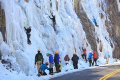 Waterfall Ice Climbing for your winter adventure in Banff, Canada
