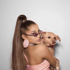 Image about dog in Ariana Grande lq/rares/icons by ig: Ariana Grande Profile, Ariana Grande Cute, Ariana Grande Photos, Ariana Grande Justin Bieber, Doja Cat, Rare Pictures, Celebs, Celebrities, Toulouse