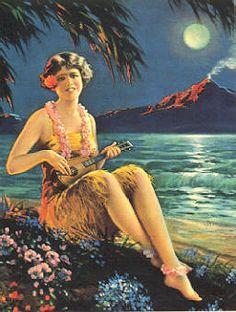 Joe versus the Volcano, ukulele player on lamp