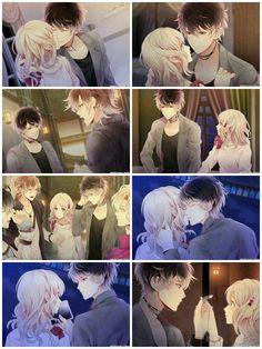 Ruki Mukami and Yui Me Anime, Anime Kiss, Anime Couples Manga, Cute Anime Couples, Anime Love, Mystic Messenger, Digimon, Cd Drama, Ruki Mukami