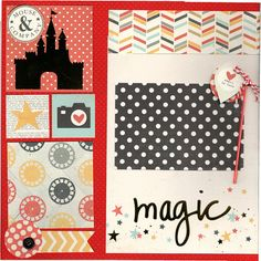 2 page Scrapbooking Layout Kit - Disney Inspired Mouse and CO