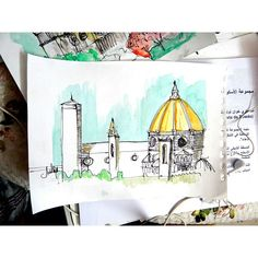 #My #Drawing #Sketch #ART #ARTIST #Artwork #sketching #Draw #architecture #water #color #ink