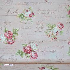 Rosen in Rosa mit Rosenschrift
