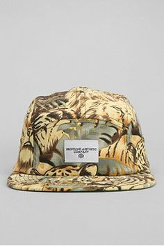 Profound Aesthetics Tigers 5-Panel Hat Compare Fierce 5, 5 Panel Hat, Tiger Print, Leather Buckle, Urban Outfitters, Tigers, Hats, Metal, Aesthetics