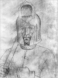 Two drawings by Antonio Pisanello, The Vallardi Album, 1410-1455, Italy (exact location unknown).
