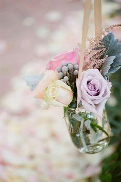 Whimsical Garden Wedding From Valentina Glidden Fine Art Photography Wedding Chair Decorations, Wedding Chairs, Mason Jar Flowers, Mason Jars, Flower Vases, Flower Arrangements, Vase Transparent, Cut Glass Vase, Pots