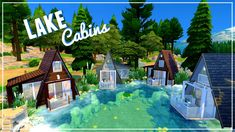 LAKE CABINS - Micro - Sims 4 | House Build