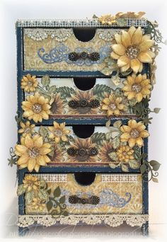 Nikki's Crafting Creations: Cascading Sunflower Drawers