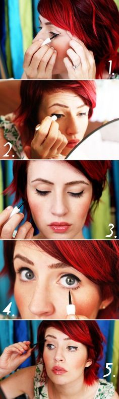 The Twiggy Look / 22 Beauty Tutorials For Dramatic Holiday Looks
