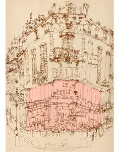 'Parisian Cafe'    Screenprint  40.5 x 56 cm  Edition size 100  £160