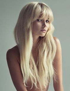 Bewitching Woman Long Wavy Blonde Capless Human Hair Wig