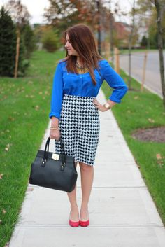 houndstooth with royal blue