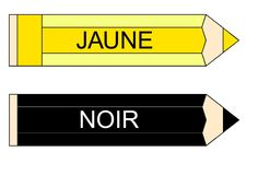 Etiquettes des couleurs en A4 pour affichage dans la classe