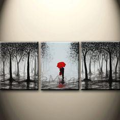 Esta pintura acrílica serán pintadas sobre lienzo tres 16 x 20 y 3/4 de pulgada espesor Galería envuelta, tamaño total: 48 x 20, los bordes son libre de grapas y pintado de negro, sin necesidad de enmarcarlo. será fácil colgar en la pared y listo. (Por favor ponga dos nivel de clavos en la pared para sostener un lienzo)  Como se trata de un hecho a la pintura de la orden, será cerca de la que ves aquí, que ya he vendido, pero siendo único. Tardará aproximadamente una semana para terminar la…