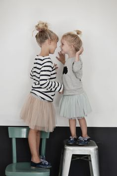 Love this look! #tulleskirtkids