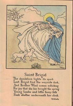 "Female Poets of The First World War: Winifred Mabel Letts - ""Saint Brigid"" on St. St Bridget, Female Poets, Irish Celtic, Celtic Art, Irish Blessing, Sabbats, Catholic Saints, Wiccan, Witchcraft"