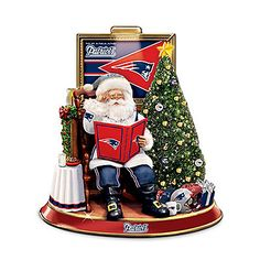 NFL New England Patriots Talking Santa Claus Tabletop Centerpiece