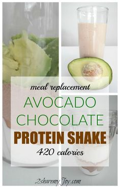 Healthy Avocado-Chocolate Protein Shake Recipe to stop cravings, lose weight, feel energized and fit. A great after workout meal replacement with protein, fiber, vitamin C, potassium and folates. Click through to get the protein shake recipe.
