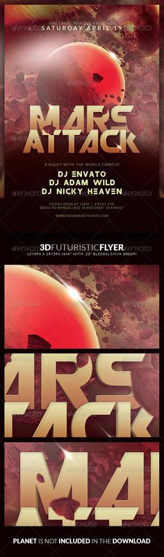3d Futuristic Flyer — Photoshop PSD #electro #dj • Available here → https://graphicriver.net/item/3d-futuristic-flyer/7269024?ref=pxcr