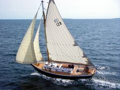 SCHOODIC: A Murray Peterson-designed Friendship sloop built in 1973 by Collemer & Lanning in Winter Harbor, Maine. Photo by LEONIE DRINAN.