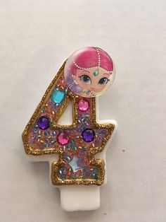This listing is for single digits birthday candles shimmer and shine inspired . Any custom color available Princess Birthday Party Decorations, Fourth Birthday, Shimmer N Shine, Party Planning, Ava, Birthday Candles, Cricut, Inspired, Unique Jewelry